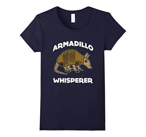 Women's CUTE ARMADILLO WHISPERER T-SHIRT Funny Animal Pet Farm Gift Small Navy (Armadillo Costume)