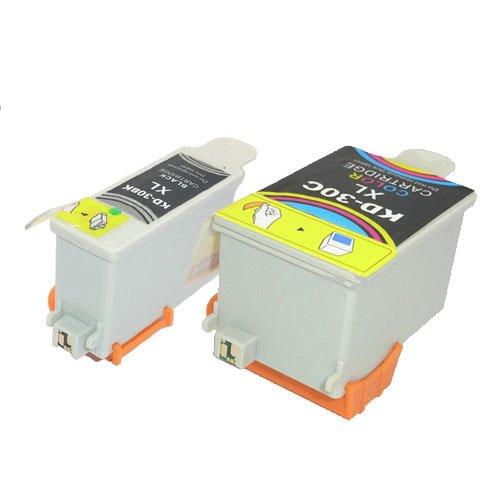 Sienoc Replacement Ink Cartridges 2 (1xBlack,1xCyan) Compatible with Kodak 30 ESP C110 310 315 Pack of 2