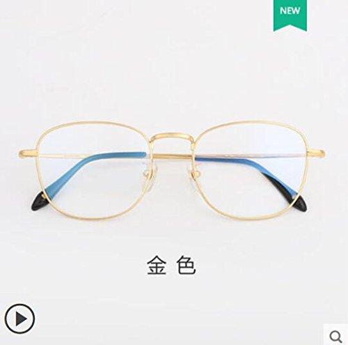 gafas de gafas gafas marea gafas gafas las a anti corriente radiaciones móvil marea azul versión puro luz macho contra la prueba de KOMNY plano de marco espejo puro Golden Titanio titanio azul coreana Epqq1P