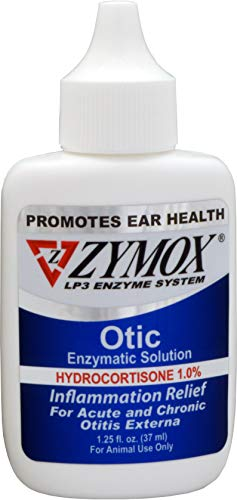 ZYMOX Ear Solution | The Only No Pre-Clean Once -a-Day Dog and Cat Ear Solution | Natural Enzyme Formula | Veterinarian Recommended | Patented Enzyme Formula | Contains Hydrocortisone for Comfort ()