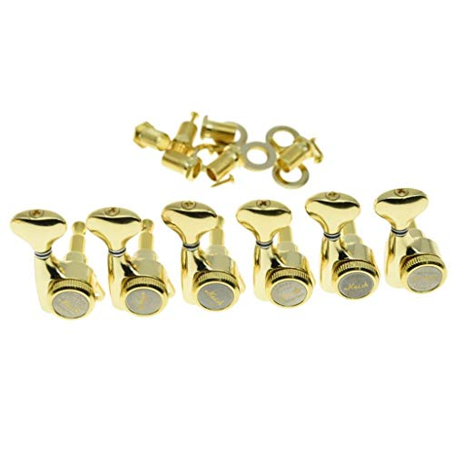 KAISH 18:1 Gear Ratio Guitar Locking Tuners Machine Heads Guitar Locking Tuning Keys Pegs for Strat/Tele/LP/SG most Electric or Acoustic Guitars Gold