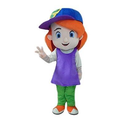 Girl Mascot Costume Cartoon Character Real Picture Langteng