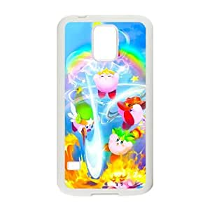 Generic for Samsung Galaxy S5 Cell Phone Case White Kirby Custom HHGKAOJFD3269