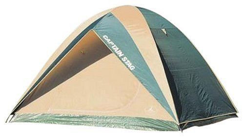 テレビパーフェルビッドかもめキャプテンスタッグ(CAPTAIN STAG) テント プレーナドームテント M-3102 ドーム型 5~6人用 PU?防水加工 シームレス加工 キャリーバッグ付き グリーン
