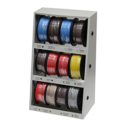 12-Spool Automotive Wire Assortment with Steel Rack