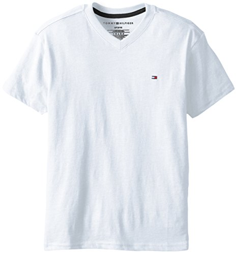 Tommy Hilfiger Little Boys' Core V-Neck Tee,White,2T (Designer Kids Clothing)