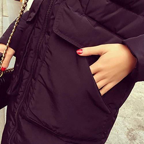 Invernali Lunga Glamorous Donna Giacca Cappotti Casual Cappuccio Manica Addensare Caldo Outdoor Moda Semplice Coat Con Pelliccia Giaccone Schwarz Eleganti In 5t4tqxcwnR