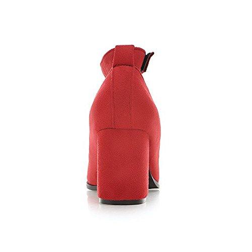Smerigliato Chiuso E Anello Gancio Pompa Punta Ad calzature Rosso Alti Donne Solido Allhqfashion Indicata dwqxSSaY
