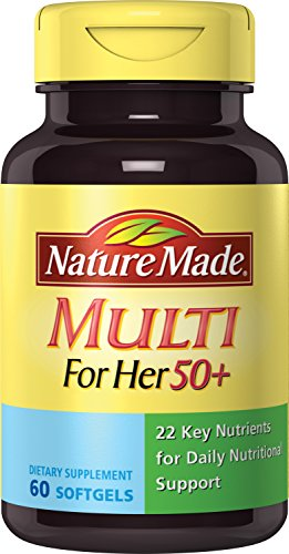 Nature Made® Multivitamin For Her 50+ Softgels w. Vitamin A, C, D, E, B, Zinc, Iron and Calcium 60 Ct
