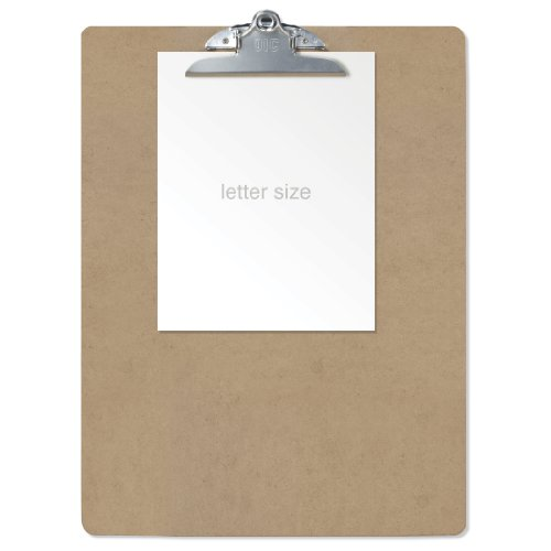 Officemate Recycled Wood Clipboard, Waybill Size, 15 x 20 Inches, 6 inch Clip (83104)