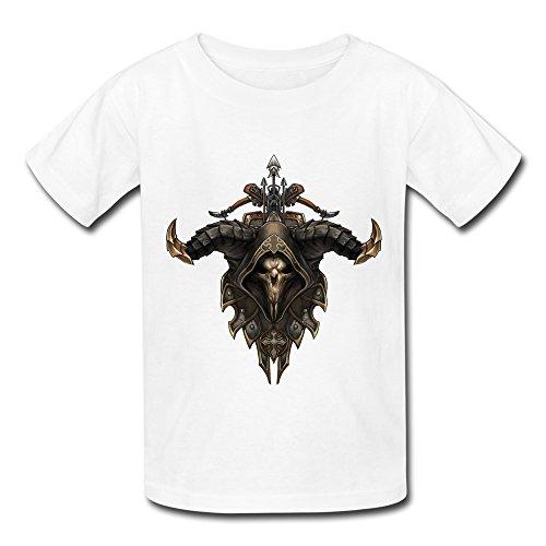QMY Kid's Vintage Demon Hunter 3 T-shirts Size M White