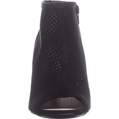 Toe Open Black Bar Fabric Boots Womens Fashion III Megan Ankle CIwqFPRXwr