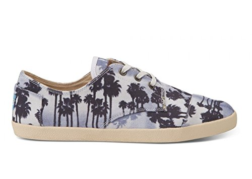 TOMS Mens Paseos Blue Palm Trees, Size 11.5 M US