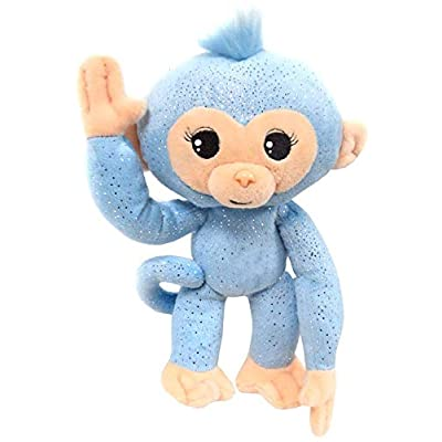 Commonwealth Toy Monkey Small Plush, Light Blue Glitter: Toys & Games