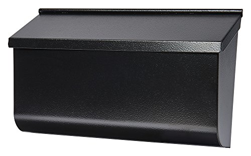 Gibraltar Mailboxes Woodlands Medium Capacity Galvanized Steel Black, Wall-Mount Mailbox, L4010WB0 (Mailbox Wall Black)