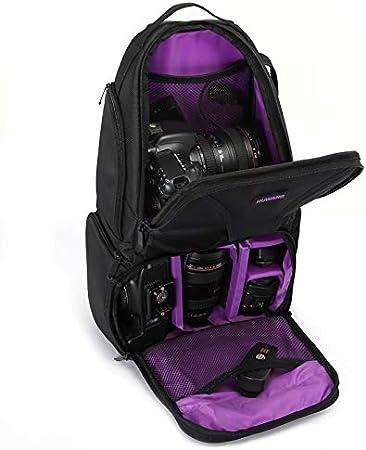 Yhuisen Waterproof Shoulder Backpack Padded Shockproof Camera Case Bag Compatible with Nikon Color : Purple