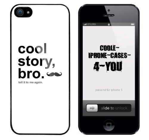 Iphone 5 Case Cool Story Bro - tell it again Rahmen schwarz