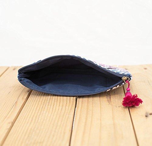 blush sacchetto, Stone washed frizione, borsa, argento paillettes damigella d' onore, Boemia, dimensioni 12,7x 22,9cm