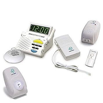 Sonic Alert Telephone - YBS Sonic Alert Wireless 3-Room Signaling System for Doorbell, Phone and Alarm Clock Notification