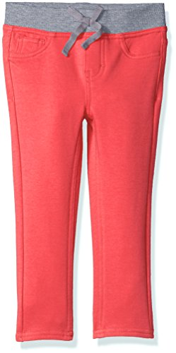 LEE Girls' Little' Knit Waist Skinny Pull On Pant, Coral/Grey, 5