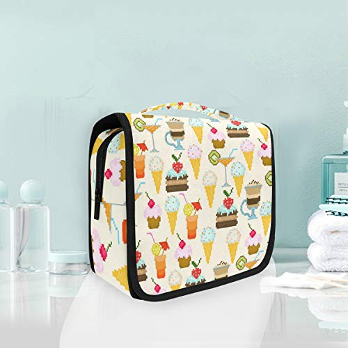 Toiletry Bag Cupcake Icecream Dessert Cartoon Portable Makeup Storage Cosmetic -