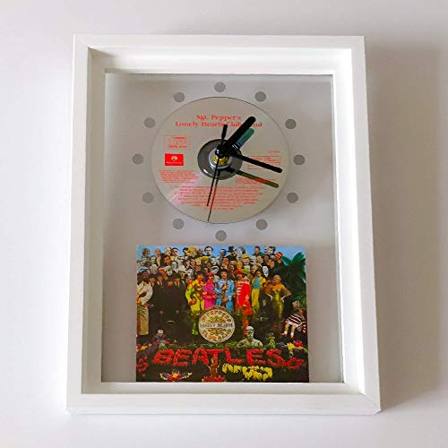 - THE BEATLES - Sgt. Pepper's Lonely Hearts Club Band: FRAMED CD WALL CLOCK/With Cover Art