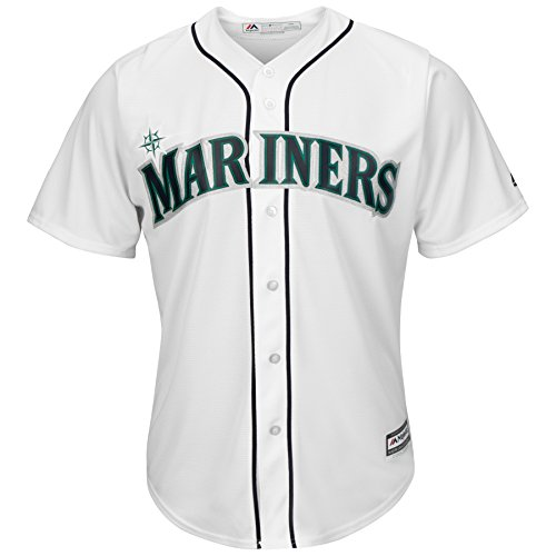 Seattle Mariners MLB Men's Big and Tall Cool Base Team Home Jersey White (6XL )