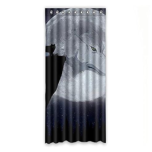 Custom Wolf Polyester Lichtdicht Fenster Vorhang Für Schlafzimmer Oder  Wohnzimmer Einem Stück, 127