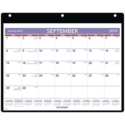 - AT-A-GLANCE 2019-2020 Academic Year Desk & Wall Calendar, Small, 11
