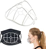 5 Pack 3D Face Mask Bracket, upgrade hook design, inner support frame, more space for comfortable breathing.