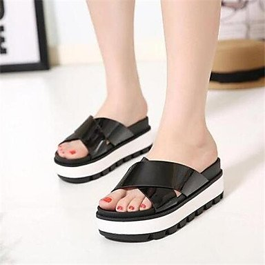 Black sandalias fondo cómodo baratos LFNLYX Hembra de zapatillas de antideslizante verano planas sandalias impermeable heavy muffin tacón pnRnB1qw