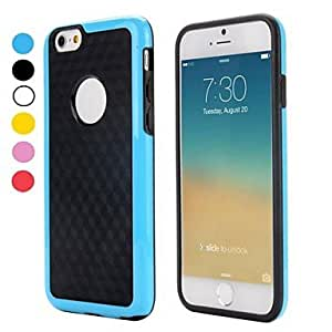 YXF Dual Color 3D Cube Pattern Protective PC and TPU Hybrid Flexible Cover for iPhone 6(Assorted Colors) , Red