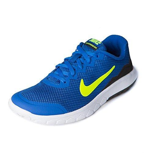 Nike Kids Flex Experience 4 Running Shoe (Game Royal/Volt-Black-White, 6.5Y)