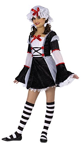Girls Rag Darlin' Velvet Kids Child Fancy Dress Party Halloween Costume, M (8-10)