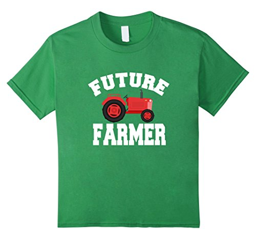 Truck Driver Costume Toddler (Kids Future Farmer Red Tractor T-Shirt 4 Grass)
