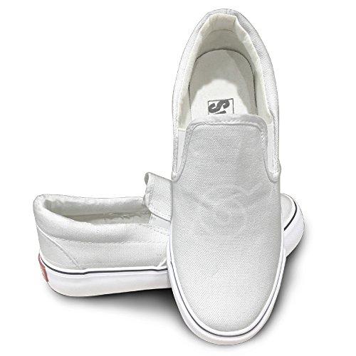PTCY Japanese Comic Village Logo Fashion Unisex Flat Canvas Shoes Sneaker 43 White