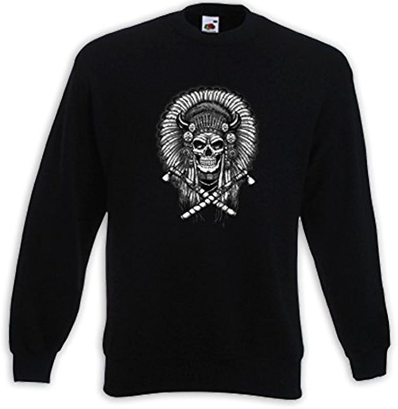 Native Pullover Indianer 1 Skull czaszka Biker Cowboy USA Feder: Odzież