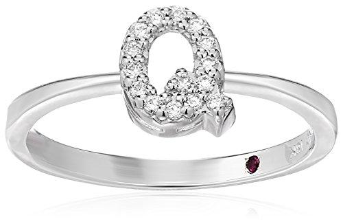 Roberto Coin Women's 001634AWLRXQ Diamond Initial Ring, White, Size 7 ()
