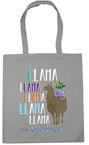 HippoWarehouse Llama Llama Llama Llama Llama Chameleon Tote Shopping Gym Beach Bag 42cm x38cm, 10 litres Light Grey