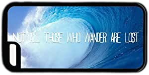 LJF phone case Wave Not All Who Wander Are Lost Quote Theme Iphone 5C Case