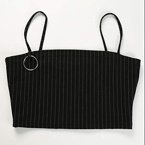 Underwear Couleur Noir Control Hat Noir Tankini Bikini Halter Hanger Tank Blanc Manches Zhrui Top Moyenne Taille Crop longues C7Sq4
