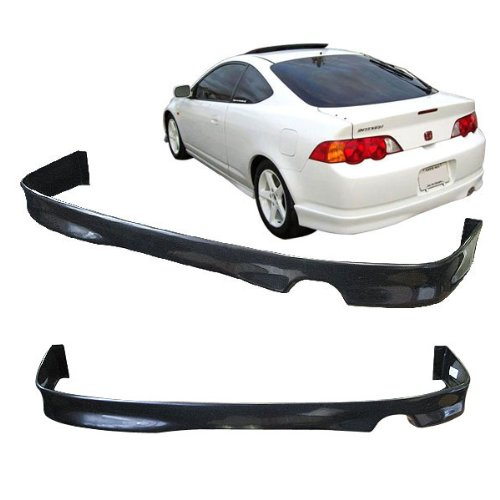 Rear Bumper Lip Fits 2002-2004 Acura RSX | T-R Style Unpainted Black PU Rear Splitter Spoiler Valance Chin Diffuser Body Kit by IKON MOTORSPORTS | ()
