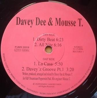 Price comparison product image Davey Dee & Mousse T. - The Dirty Beat EP - Peppermint Jam - PJMS 0009