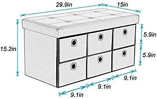 Swell Amazon Com Sogespower 30 Inches Folding Storage Ottoman Uwap Interior Chair Design Uwaporg