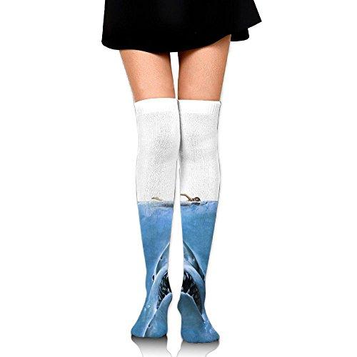 驚いた廃棄ロータリー恐ろしいサメ ストッキング サイハイソックス 3D デザイン 女性男性 秋と冬 フリーサイズ 美脚 かわいいデザイン 靴下 足元パイル ハイソックス メンズ レディース ブラック