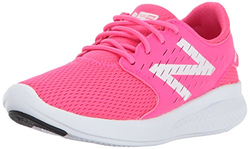 New Balance Girls' Coast V3 Road Running Shoe, Pink/White, 2.5 Medium US Little Kid by New Balance