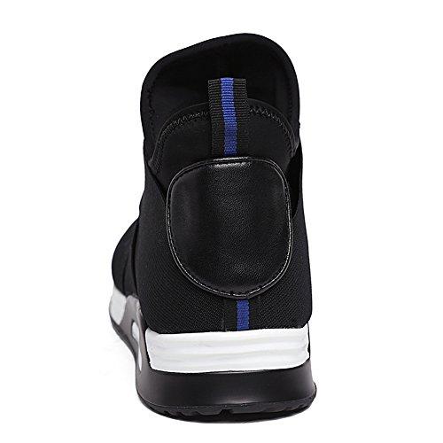 Causal Black Sneaker Santimon on Leather Men's Shoes Slip Fashion q6xBRzv