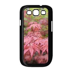 Vinceryshop Leaf & Leaves Samsung Galaxy S3 Cases Anti Fall Red Leaves Macro 3, Leaf & Leaves Samsung Galaxy S3 Cases for Women [Black]