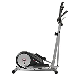 EFITMENT Magnetic Elliptical Machine Trainer w/LCD Monitor and Pulse Rate Grips E006