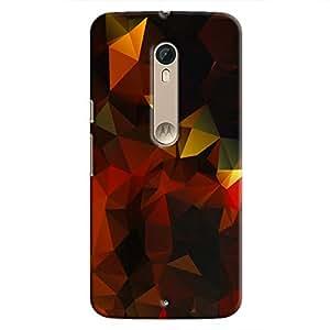 Cover It Up - Dark Orange Gold Pixel Motorola Moto X Style Hard Case